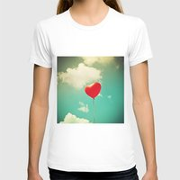 Red Heart Balloon In A V… Womens Fitted Tee White SMALL