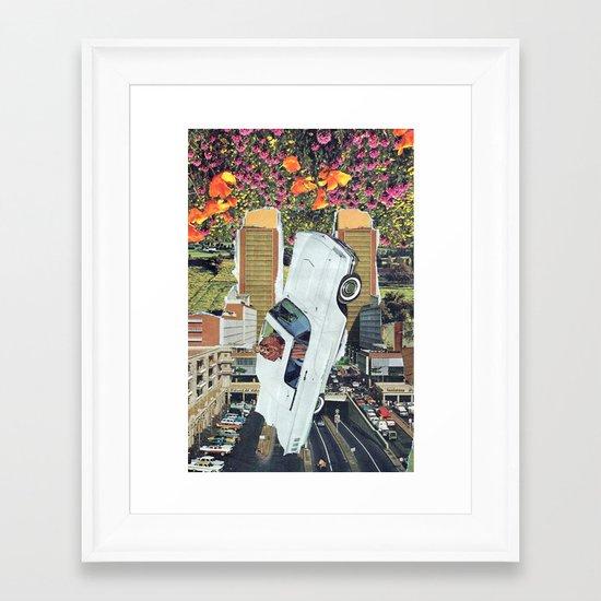 blanco Framed Art Print