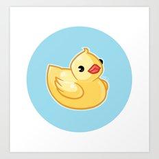 Yellow Rubber Ducky Art Print