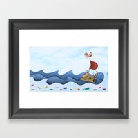 Sea Race Framed Art Print