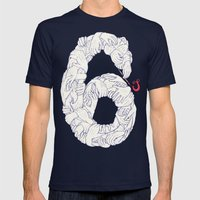 S6 Tee - Many Mens Fitted Tee Navy SMALL