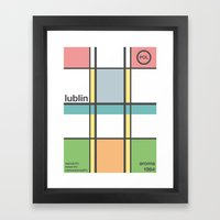 lublin single hop Framed Art Print