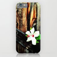 Old wood and a flower. iPhone 6 Slim Case