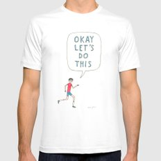 Okay let's do this SMALL Mens Fitted Tee White