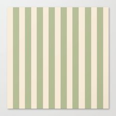 Stripes in Sage and Tan Color Pattern Canvas Print