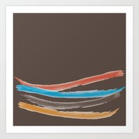 Happy Brushes VS Brown Art Print