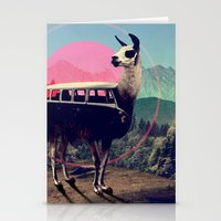 funny Stationery Cards featuring Llama by Ali GULEC