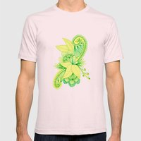 Green Arabesque Mens Fitted Tee Light Pink SMALL