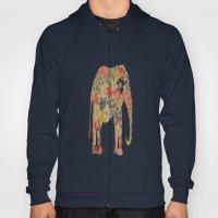 Flower Power Elephant Hoody