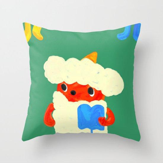 Baby demon (Japanese baby demon) Throw Pillow