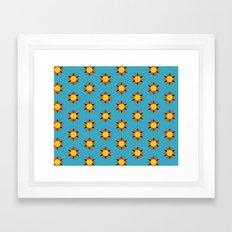 Retro Starburst Framed Art Print