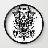 Create Or Die Wall Clock