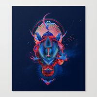 Blue Gibbon Canvas Print