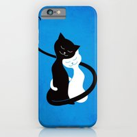 iPhone & iPod Case featuring White And Black Cats In Love by Boriana Giormova