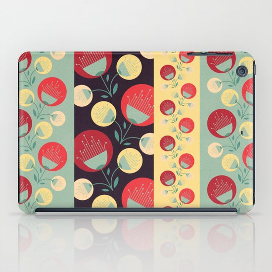 50's floral pattern iPad Case