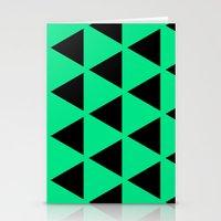 Sleyer Black On Green Pa… Stationery Cards