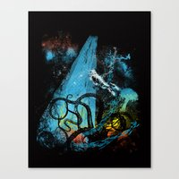 Diving Danger Canvas Print