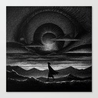 Drawlloween 2015: Eye Ba… Canvas Print