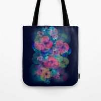 Midnight bloom Tote Bag