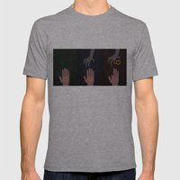 Lord of the Rings Minimalist Posters: Trilogy Mens Fitted Tee Athletic Grey SMALL