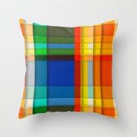 rectangle layers Throw Pillow