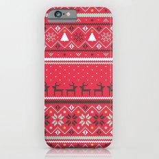 Festive FairIsle - Red Slim Case iPhone 6s