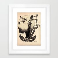 S C O R P I O - Black and White edition Framed Art Print