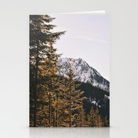 Snow Mountain In The Tre… Stationery Cards
