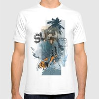 Surf Mens Fitted Tee White SMALL