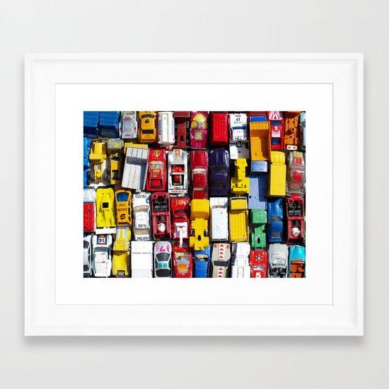 Toy Cars Framed Art Print