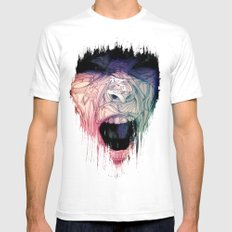 The Scream. Mens Fitted Tee White SMALL
