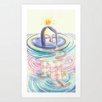 keep calm Art Prints featuring keep calm by mloyan