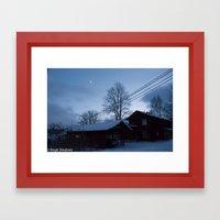 Finland in the winter #5 - Fiskars Artist Village  Framed Art Print
