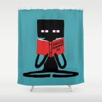 Enderman - Self Improvem… Shower Curtain
