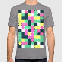 Circle Square Mens Fitted Tee Tri-Grey SMALL