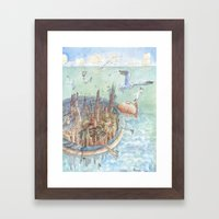 The concentric city Framed Art Print