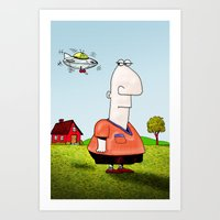 Little UFO Art Print