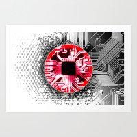 Circuit Board Japan (Fla… Art Print