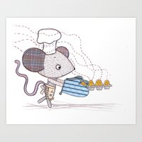 Bakery Mouse Art Print