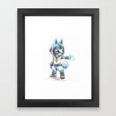 Isn't he Ad-AURA-ble? Framed Art Print