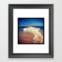 Two Oceans Meet Framed Art Print