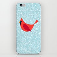 Cardinal Flowers, Carolina Blue iPhone & iPod Skin