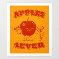 Apples 4EVER Art Print