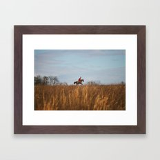 Fox Hunt Framed Art Print