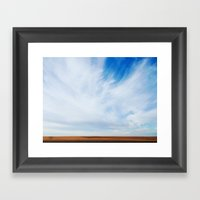south Dakota Sky Framed Art Print