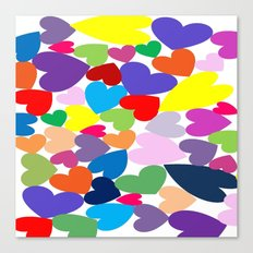 Random Hearts Canvas Print