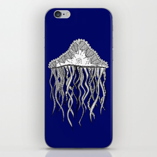 Blue Jellyfish iPhone & iPod Skin