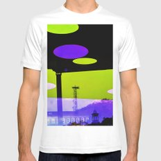 An Altered View of NYC White Mens Fitted Tee SMALL