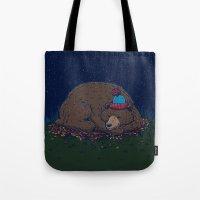 Starry Night Novembear Tote Bag
