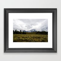 Foggy Yellowstone Landsc… Framed Art Print